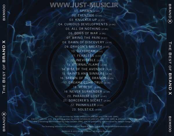 بهترین آهنگ های بی کلام برند ایکس Brand X Music