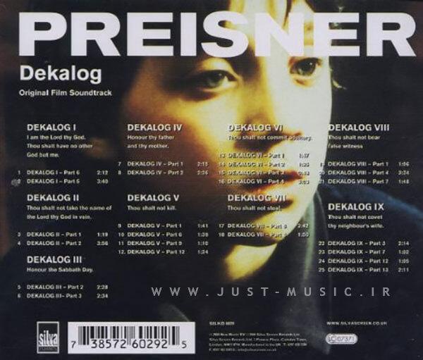 دانلود آلبوم موسیقی متن سریال ده فرمان Dekalog شاهکاری از زبیگنف پرایزنر Zbigniew Preisner