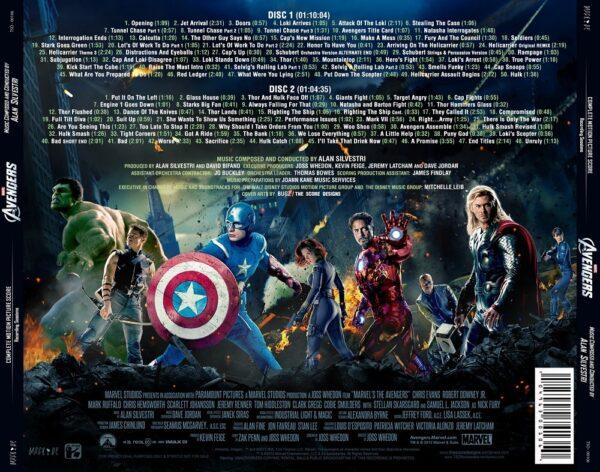 کاور پشتی موسیقی متن فیلم انتقام جویان The Avengers