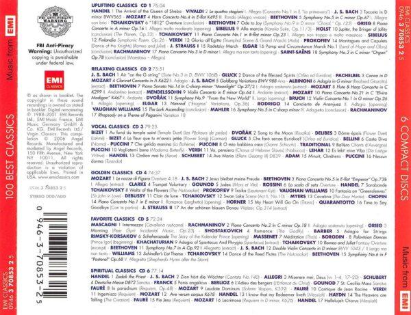 کاور پشتی 100 موسیقی کلاسیک برتر تاریخ Best Classics