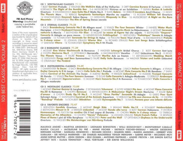 کاور پشتی 100 موسیقی برتر کلاسیک قسمت دوم Best Classics Vol II