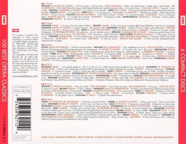 کاور پشتی 100 موسیقی اپرا کلاسیک برتر Best Opera Classics
