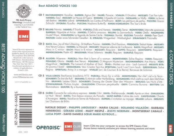 کاور پشتی 100 موسیقی صدای آداجیو برتر Best Adagio Voices