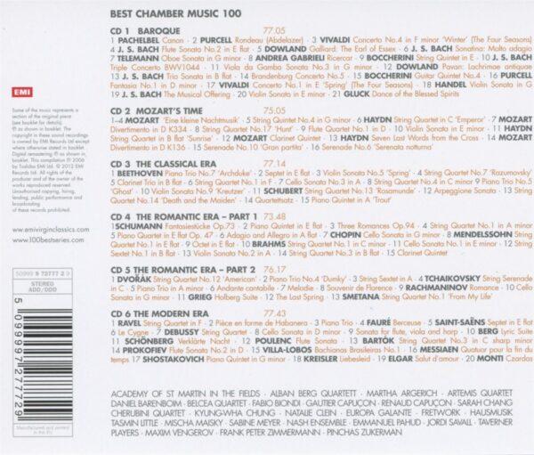کاور پشتی 100 موسیقی کلاسیک مجلسی برتر Best Chamber Music