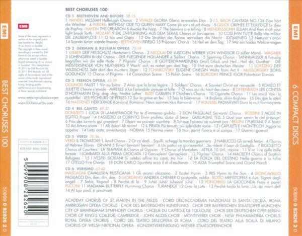 کاور پشتی 100 موسیقی کر برتر Best Choruses