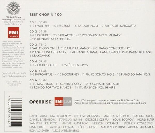 کاور پشتی 100 موسیقی برتر شوپن Best Frédéric Chopin