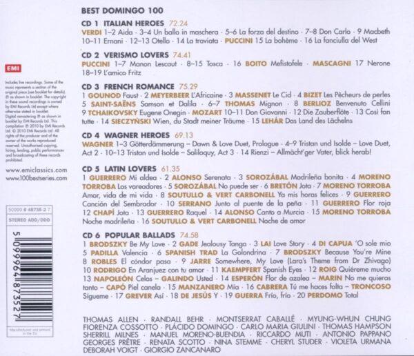 کاور پشتی 100 موسیقی برتر دومینگو Best Placido Domingo