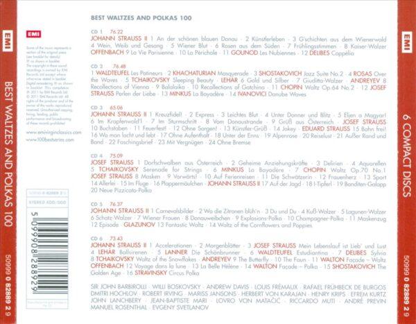 کاور پشتی 100 موسیقی والس و پولکا برتر Best Waltzes & Polkas