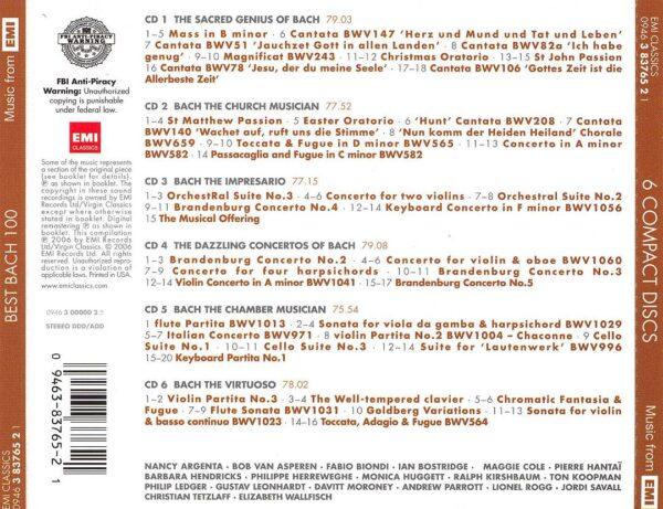 کاور پشتی 100 موسیقی برتر باخ Best Johann Sebastian Bach