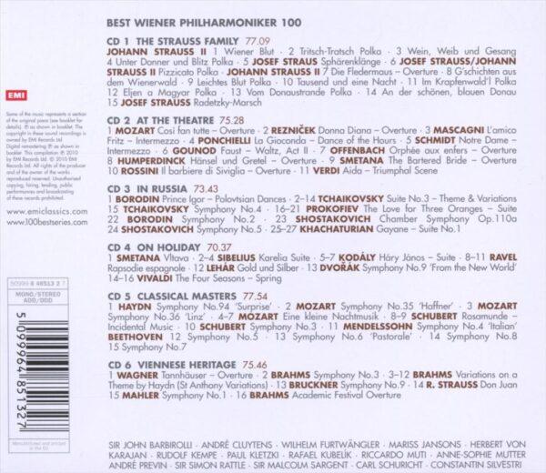 کاور پشتی 100 موسیقی برتر ارکستر فیلارمونیک وین Best Wiener Philharmoniker