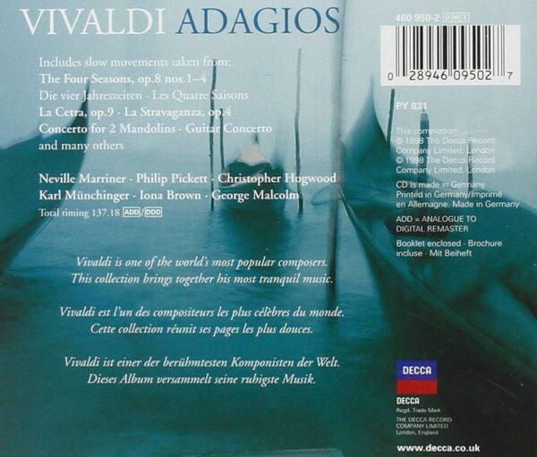کاور پشتی بهترین آهنگ های آداجیو ویوالدی Vivaldi Adagios