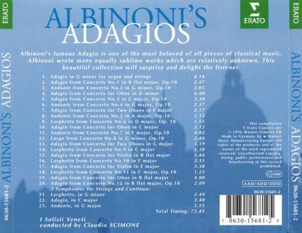 کاور پشتی بهترین آهنگ های آداجیو آلبینونی Albinoni Adagios
