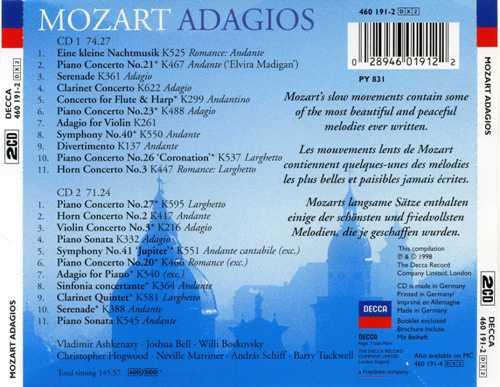 کاور پشتی بهترین آهنگ های آداجیو موزارت Mozart Adagios