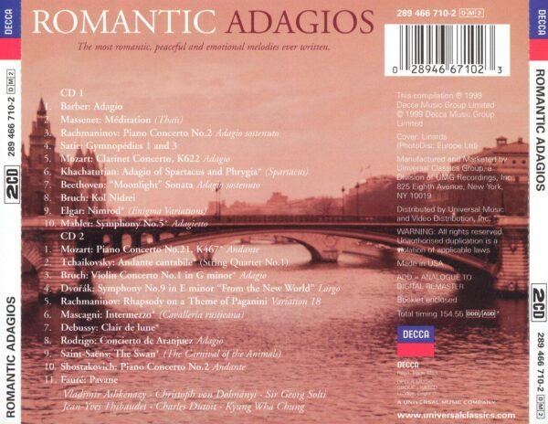 کاور پشت بهترین آهنگ های آداجیو رمانتیک Romantic Adagios