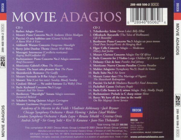 کاور پشتی بهترین آهنگ های آداجیو در فیلم ها Movie Adagios