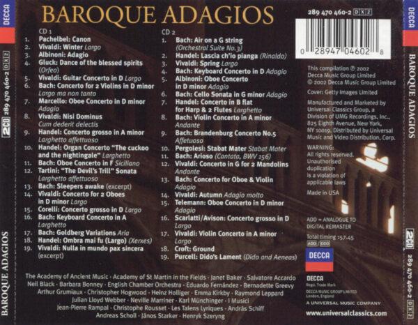 کاور پشتی بهترین آهنگ های آداجیو باروک Baroque Adagios