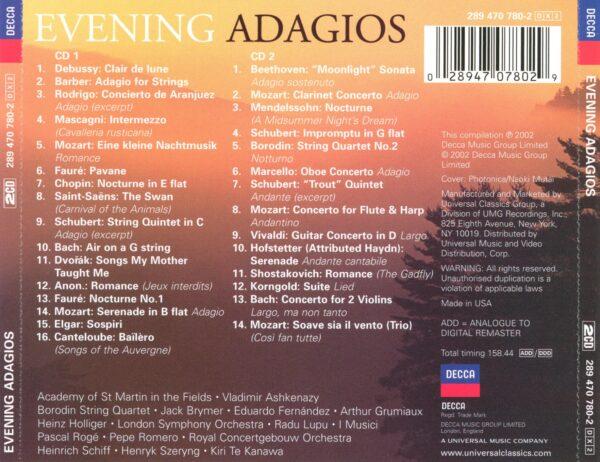 کاور پشتی بهترین آهنگ های آداجیو برای عصر و غروب Evening Adagios