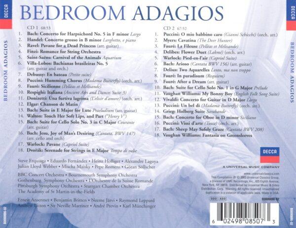 کاور پشتی بهترین آهنگ های آداجیو برای خواب Bedroom Adagios