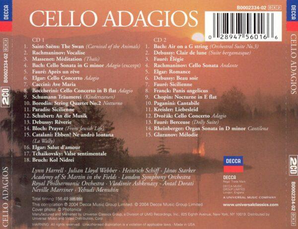کاور پشتی بهترین آهنگ های آداجیو ویولنسل Cello Adagios