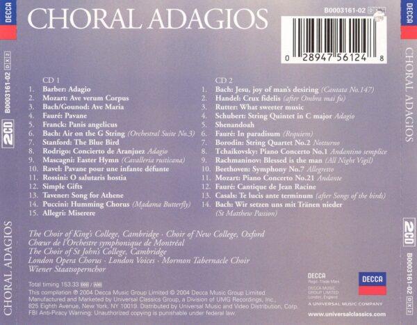 کاور پشتی بهترین آهنگ های آداجیو کرال Choral Adagios