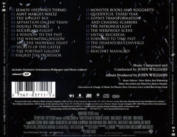 کاور پشتی موسیقی متن فیلم هری پاتر و زندانی آزکابان (3) Harry Potter and the Prisoner of Azkaban