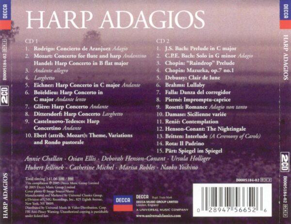کاور پشتی بهترین آهنگ های آداجیو چنگ (هارپ) Harp Adagios