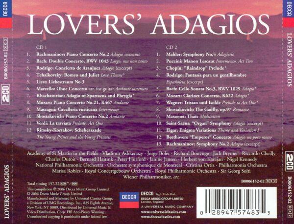 کاور پشتی بهترین آهنگ های آداجیو عاشقانه Lovers Adagios