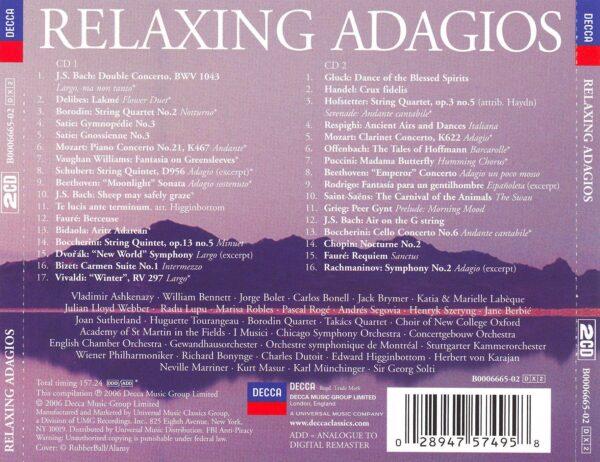 کاور پشتی بهترین آهنگ های آداجیو آرامش بخش Relaxing Adagios