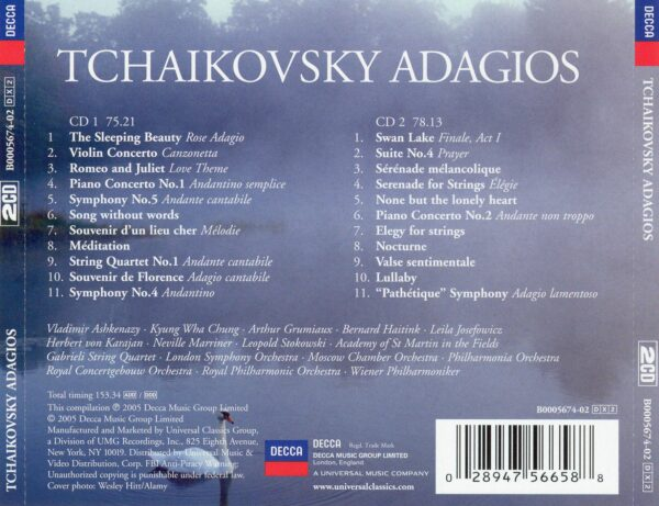 کاور پشتی بهترین آهنگ های آداجیو چایکوفسکی Tchaikovsky Adagios