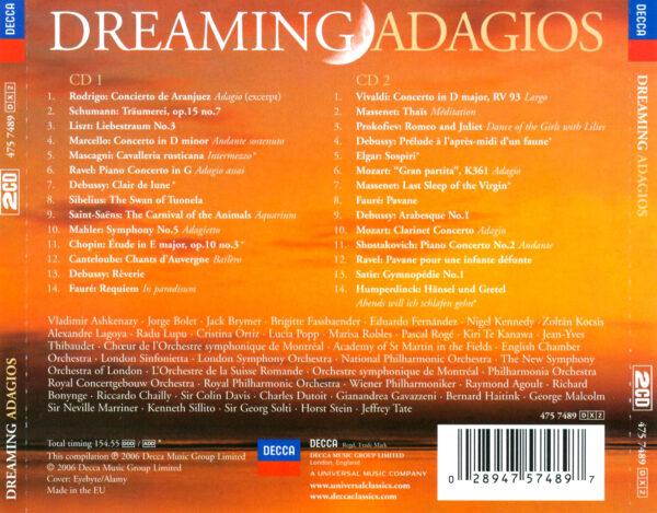 کاور پشتی بهترین آهنگ های آداجیو رویایی Dreaming Adagios