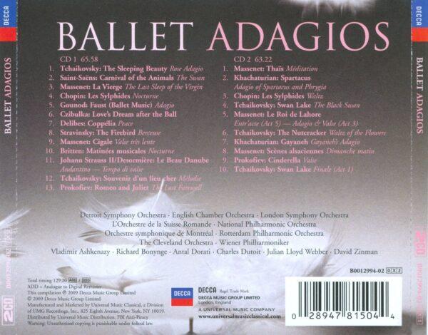 کاور پشتی بهترین آهنگ های آداجیو باله Ballet Adagios