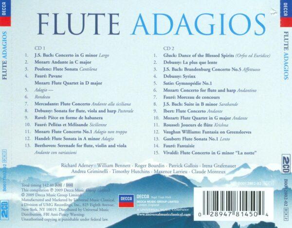 کاور پشتی بهترین آهنگ های آداجیو فلوت Flute Adagios