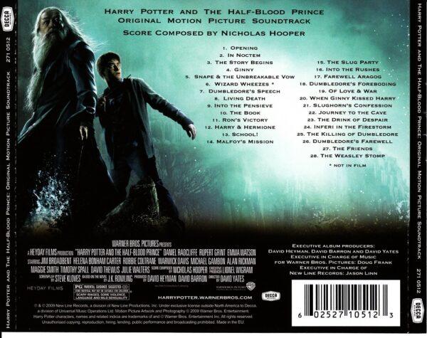 کاور پشتی موسیقی متن فیلم هری پاتر و شاهزاده دورگه (6) Harry Potter and the Half-Blood Prince