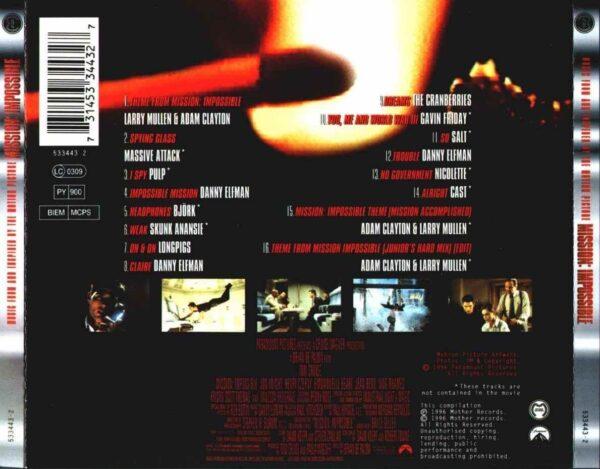 کاور پشتی موسیقی فیلم ماموریت غیرممکن 1 Mission Impossible
