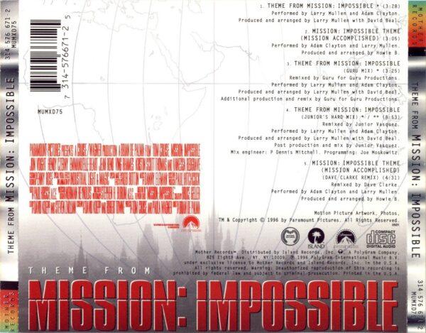 کاور پشتی آهنگ معروف ماموریت غیر ممکن Theme from Mission Impossible