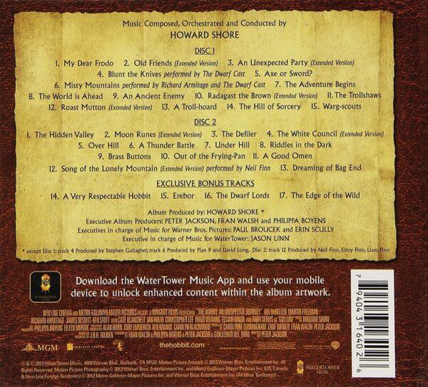 کاور پشتی موسیقی متن فیلم هابیت یک سفر غیر منتظره The Hobbit: An Unexpected Journey