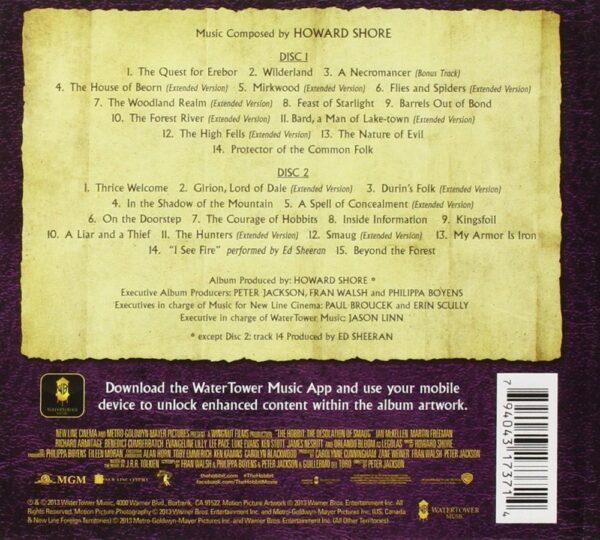 کاور پشتی موسیقی متن فیلم هابیت 2: برهوت اسماگ The Hobbit: The Desolation of Smaug