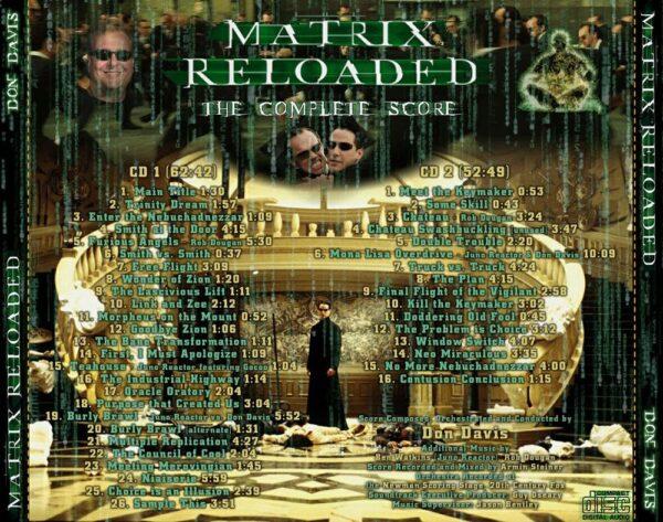 کاور پشتی موسیقی متن فیلم ماتریکس 2: بارگذاری مجدد The Matrix Reloaded