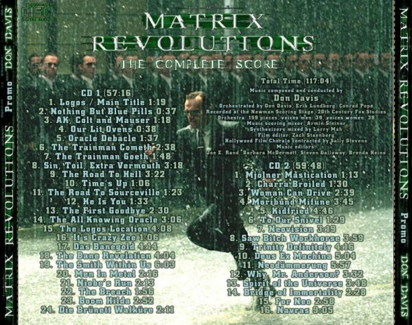 کاور پشتی موسیقی متن فیلم ماتریکس 3: انقلاب های ماتریکس The Matrix Revolutions
