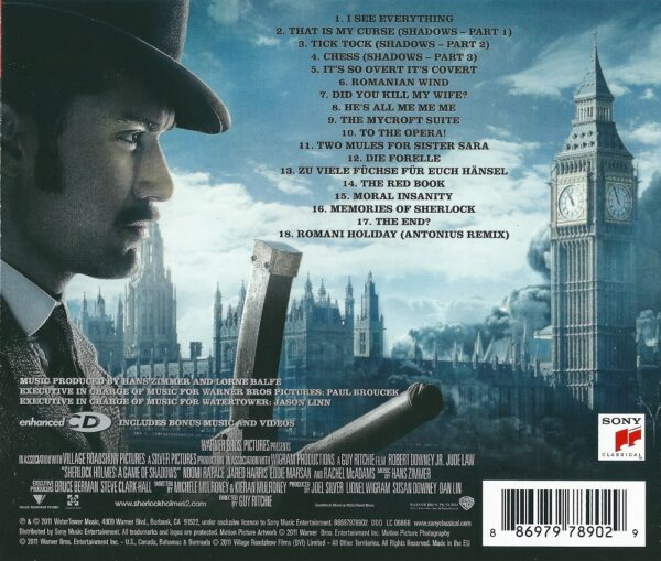 کاور پشتی موسیقی متن فیلم شرلوک هلمز: بازی سایه ها Sherlock Holmes A Game of Shadows