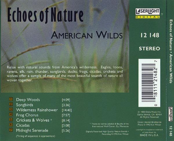 کاور پشتی مجموعه صدای طبیعت وحشی Echoes Of Nature - American Wilds