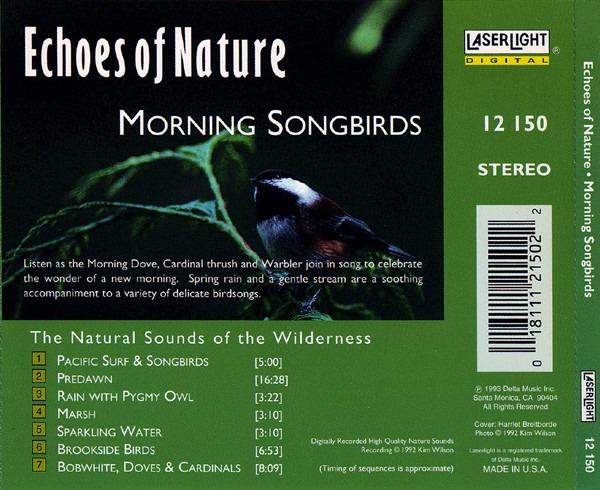 کاور پشتی مجموعه صدای پرندگان - آواز صبحگاهی پرندگان Echoes Of Nature - Morning Songbirds