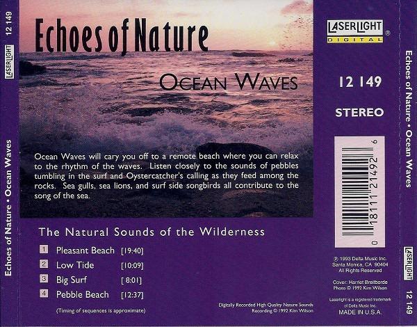 کاور پشتی مجموعه صدای امواج اقیانوس Echoes Of Nature - Ocean Waves