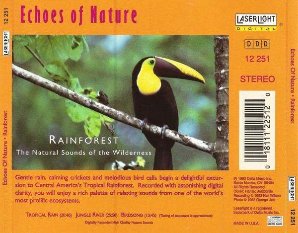 کاور پشتی مجموعه صدای جنگل بارانی Rainforest