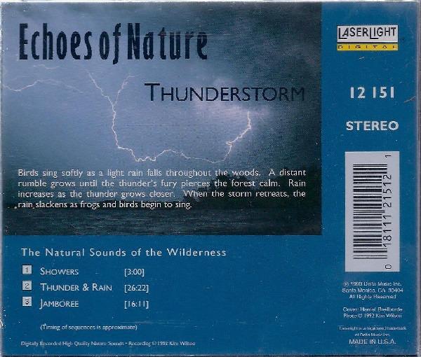 کاور پشتی مجموعه صدای رعد و برق و باران Echoes Of Nature - Thunderstorm